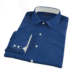 Navy 100s Twill Fitted Shirt