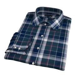 Wythe Green and Navy Plaid Men's Dress Shirt