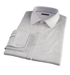 Portuguese Beige Cotton Linen Herringbone Tailor Made Shirt