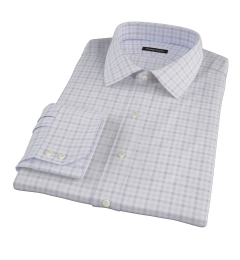 Thomas Mason Brown Multi Check Custom Made Shirt