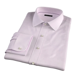 Lazio 120s Pink Multi Grid Fitted Shirt