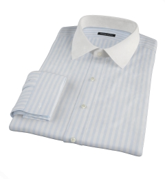 Canclini Light Blue Awning Stripe Custom Dress Shirt