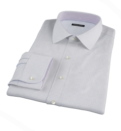 Thomas Mason Goldline Blue Tattersall Dress Shirt