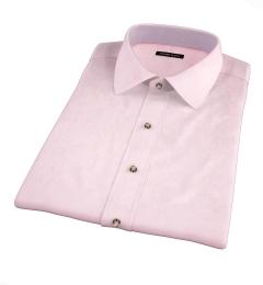 Pink Fine Twill Short Sleeve Shirt