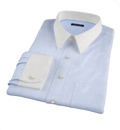 Light Blue 80s Broadcloth Custom Made Shirt