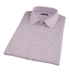 Red Davis Check Short Sleeve Shirt