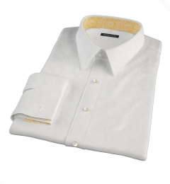 Albini White Twill Custom Made Shirt