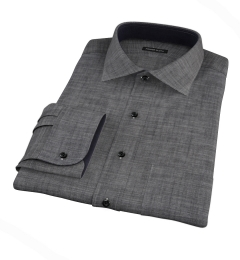 Black Denim Men's Dress Shirt
