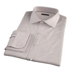 Bleecker Beige Melange Custom Dress Shirt