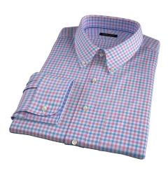 Thomas Mason Hibiscus Multi Check Fitted Dress Shirt