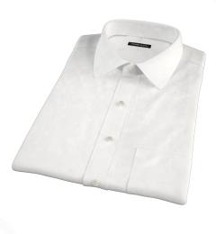 White Fine Cotton Linen Short Sleeve Shirt