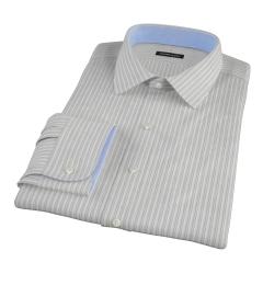 Japanese Light Blue Multi Stripe Fitted Shirt