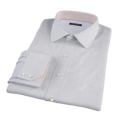 Thomas Mason Goldline Blue Tattersall Fitted Dress Shirt