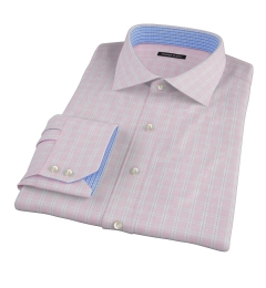 Canclini 120s Red Multi Grid Fitted Shirt
