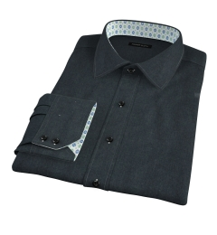 Canclini Green Twill Flannel Custom Dress Shirt