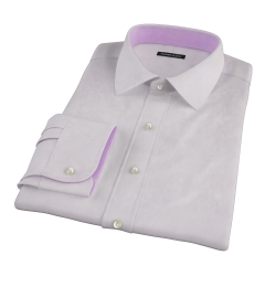 Bowery Lavender Wrinkle-Resistant Pinpoint Fitted Shirt