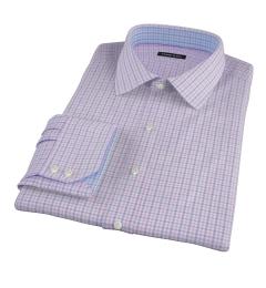 Thomas Mason Pink End on End Check Tailor Made Shirt