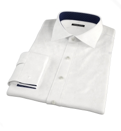 Grandi and Rubinelli White Linen Custom Made Shirt