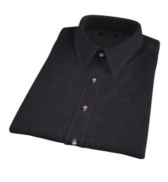 Japanese Black Slub Weave Short Sleeve Shirt