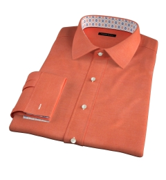 Canclini Pumpkin Beacon Flannel Fitted Dress Shirt