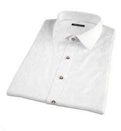 White Heavy Oxford Short Sleeve Shirt