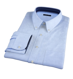 Thomas Mason Light Blue Royal Oxford Custom Made Shirt