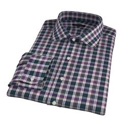 Vincent Pine and Violet Plaid Custom Dress Shirt