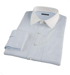 Bowery Light Blue Wrinkle-Resistant Pinpoint Custom Dress Shirt