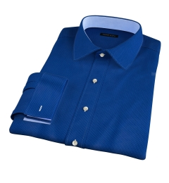 Blue and Light Blue Pindot Fitted Dress Shirt