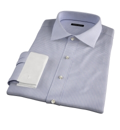 Canclini 100s Grey End on End Check Fitted Shirt