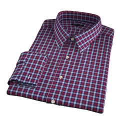 Lorimer Red and Turquoise Plaid Dress Shirt