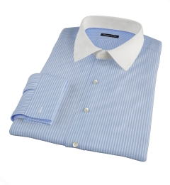 Carmine Blue Reverse Bengal Stripe Men's Dress Shirt