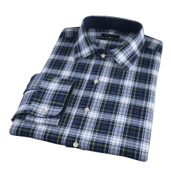Cascade Green Tartan Flannel Men's Dress Shirt