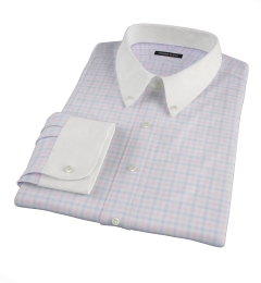 Thomas Mason Pink Multi Check Dress Shirt