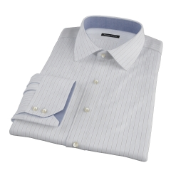 Canclini Grey Multi Stripe Custom Dress Shirt
