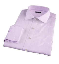 Thomas Mason Lavender Pinpoint Fitted Dress Shirt
