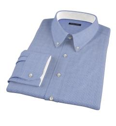 Morris Blue Wrinkle-Resistant Glen Plaid Custom Dress Shirt