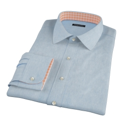 Japanese Washed Denim Fitted Shirt