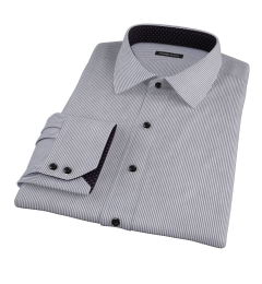 Carmine Black Pencil Stripe Tailor Made Shirt