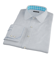 Light Blue Grey Stripe Custom Made Shirt