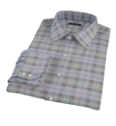 Satoyama Faded Blackwatch Plaid Men's Dress Shirt