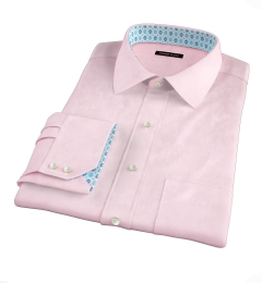 Thomas Mason Pink Fine Twill Custom Dress Shirt
