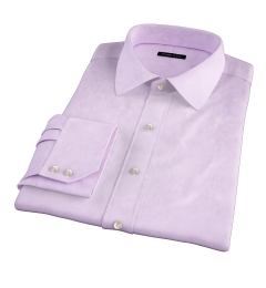 Hudson Lavender Wrinkle-Resistant Twill Fitted Dress Shirt