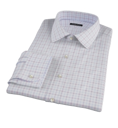 Thomas Mason Brown Multi Check Fitted Dress Shirt