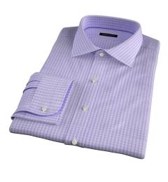 Trento 100s Lavender Check Custom Made Shirt