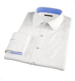 Crosby White Wrinkle-Resistant Twill Custom Made Shirt
