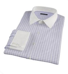 Thomas Mason Lavender Grid Fitted Shirt