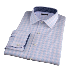 Alassio Pink End on End Check Fitted Shirt