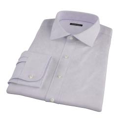 Lavender Wrinkle Resistant Mini Herringbone Fitted Shirt