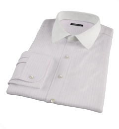 Pink University Stripe Heavy Oxford Dress Shirt
